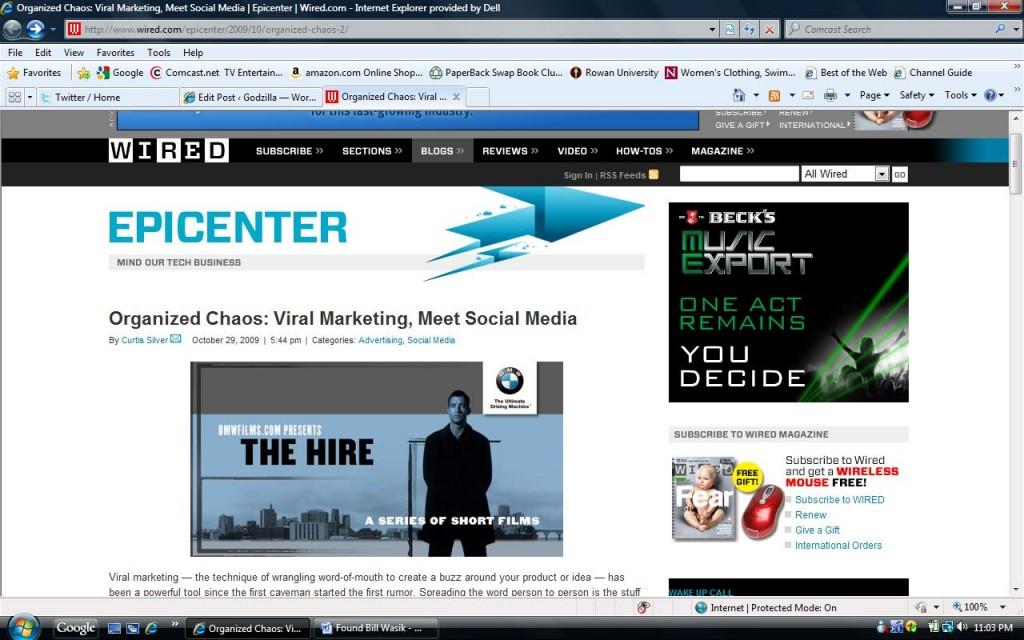 Organized Chaos: Viral Marketing, Meet Social Media